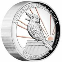 2020 AUSTRALIA $8 HIGH RELIEF PINK GILDED KOOKABURRA 5 OZ SI