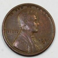 1929-D UNITED STATES LINCOLN WHEAT CENT / PENNY - VF  FINE CONDITION