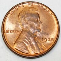 1935 UNITED STATES LINCOLN WHEAT CENT / PENNY - BRILLIANT UNCIRCULATED CONDITION