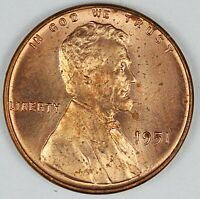 1951 UNITED STATES LINCOLN WHEAT CENT  PENNY BU BRILLIANT UNCIRCULATED CONDITION
