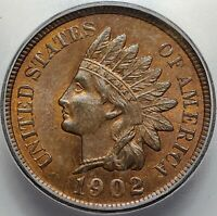 U.S. 1902 - INDIAN HEAD CENT - 1C - ICG MINT STATE 64RB