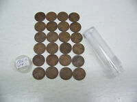 1916 S LINCOLN WHEAT CENTS - FINE - 24 COIN LOT - CIRCULATED