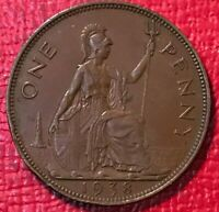 HIGH GRADE EXTRA FINE /AU 1938 GREAT BRITAIN ENGLISH LARGE PENNY-JAN243