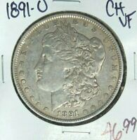 1891-O MORGAN SILVER DOLLAR  CH/VF  COIN