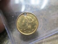 1 DOLLAR LIBERTY GOLD COIN IN FINE CONDITION