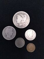 US COINS 1903 S  SILVER MORGAN S MINT COLLECTION , 1903 S HALF, 1903 S QTR. .