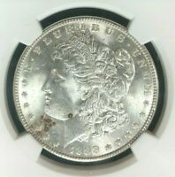 1888 MORGAN SILVER DOLLAR  NGC MINT STATE 64 BEAUTIFUL CERTIFIED COIN REF10-018