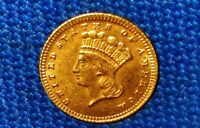 TOUGHER LATE DATE 1887 US GOLD ONE DOLLAR COIN. HISTORY IN Y