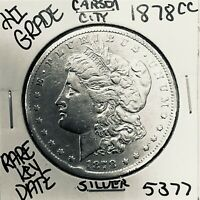 1878 CC MORGAN SILVER DOLLAR HI GRADE GENUINE U.S. MINT  KEY