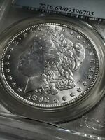 1892-O MORGAN SILVER DOLLAR PCGS MINT STATE 63 LOW MINTAGE AND   FOR GRADE