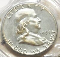 1959 P UNCIRCULATED FRANKLIN HALF DOLLAR SILVER PROOF COIN 5