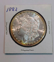 1882 $1 MORGAN SILVER DOLLAR STUNNING BU  , SEMI PL FIELDS  -  C8939