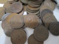 LOT OF 100 INDIAN HEAD PENNIES 1 CENT COINS _ FULL LIBERTY