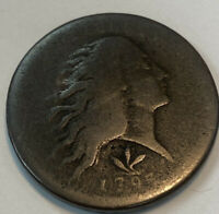 1793 LARGE CENT    WREATH    VINES AND BARS EDGE