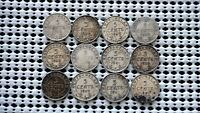 NEWFOUNDLAND CANADA SILVER 5 CENTS  12 COINS  MULTI DATE COLLECTION