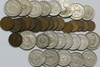 WORLD COINS  LOT WITH SILVER B35 MMM31