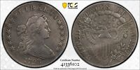 1798 DRAPED BUST LARGE EAGLE SILVER DOLLAR PCGS VF GENUINE