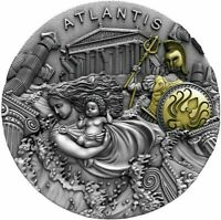 2019 NIUE $5 LEGENDARY LANDS ATLANTIS 2 OZ .999 SILVER COIN