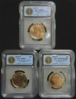 2007 GEORGE WASHINGTON PRESIDENTIAL DOLLAR 3-COIN P/D/S SET ICG MINT STATE 67/PR70 AP-47