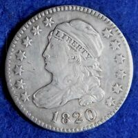 1820 10C CAPPED BUST SILVER DIME COIN