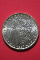 1887/1887 P VAM 5 MORGAN SILVER DOLLAR REPUNCHED DOUBLE DATE TOP 100 R4 OCE 169