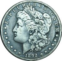 1892-S MORGAN DOLLAR CHOICE VF CONDITION - BETTER DATE