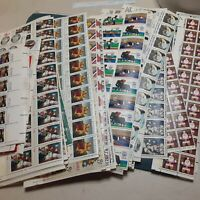 UNITED STATES POSTAGE STAMPS PARTIAL SHEETS ALL UNUSED FACE