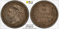 1899 CANADA 25 CENT PCGS XF45 LOTG1134 SILVER