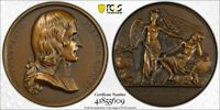 1880 FRANCE NAPOLEON ADVENT TO THE CONSULATE AE MEDAL PCGS SP64 LOTGV1158