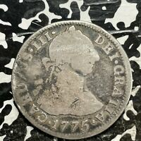 1775 PTS JR BOLIVIA 2 REALES LOTJM3158 SILVER  BETTER DATE