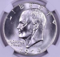 1974-S EISENHOWER SILVER DOLLAR - NGC MINT STATE 67