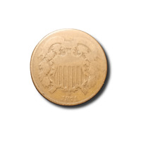 1871 TWO CENT PIECE - GOOD