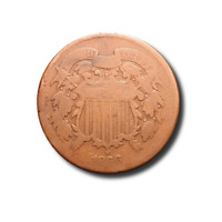 1866 TWO CENT PIECE - AG