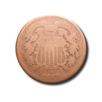 1867 TWO CENT PIECE - AG
