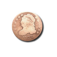 1827 CAPPED BUST DIME - AG