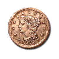 1852 BRAIDED HAIR LARGE CENT - EXTRA FINE