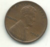 HIGH GRADE EXTRA FINE  DETAILS 1910 P LINCOLN CENT- OLD US COIN-MAR509