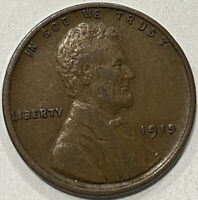 1915-P LINCOLN WHEAT CENT PENNY. VF/EXTRA FINE