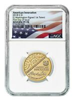 2018 S INNOVATION REVERSE PROOF DOLLAR FIRST PATENT NGC PF70