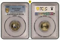 2020 AUSTRALIA TWO DOLLAR $2 75TH ANN END OF WWII PCGS   MS6