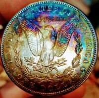 1904 MORGAN SILVER DOLLAR-AWESOME TONING  THIS   MINT STATE '04