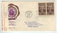1940  WYOMING 897 FDC CENSORED FOREIGN DESTINATION TO SOUTH