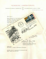 1969 MAN ON MOON APOLLO 11 SPACE C76 146A   SCHERING LABS LE