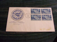 US SCOTT 906 FDC BLOCK OF 4 W/CACHET LINCOLN CHINA ISSUE