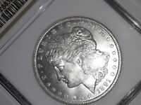 1891 P NGC MINT STATE 63 MORGAN DOLLAR BRIGHT WHITE,  NO TONING , ST MINT STATE 63 HERE, BRILL