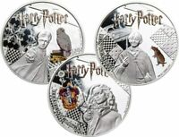 2021 SAMOA $5 HARRY POTTER 3 X 1 OZ .999 SILVER PROOF COIN S