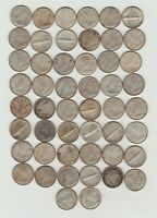 1 ROLL   50   CANADA SILVER TEN CENTS 1960'S