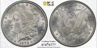 1878 7TF REVERSE OF 79 $1 MORGAN SILVER DOLLAR MINT STATE 63 PCGS GOLD SHIELD