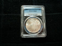 KEY DATE 1891-P MORGAN DOLLAR COIN GRADED PCGS MINT STATE 64 90 SILVER MIRROR LUSTER