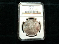 1882-P MORGAN DOLLAR $1 COIN GRADED NGC MINT STATE 62 90 SILVER